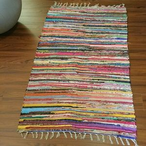 Other - NEW Large Handwoven Chindi Rag Rug!
